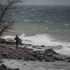 Can you believe surfing in Lake Superior at 35 degrees and raining. 04.24.2016