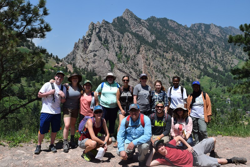 RESESS and Geo-Launchpad interns participate in a Front Range Geology field trip led by University of Colorado Boulder graduate students and faculty. Boulder, Colorado (Photo/Aisha Morris, UNAVCO)