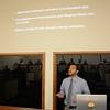 2016 RESESS intern Jose Silvestre presents his summer research during a colloquium held at UNAVCO on July 27, 2016. (Photo/Beth Bartel, UNAVCO)