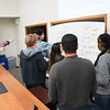 RESESS interns discuss best practices for resumes, CVs, and cover letters in their Communications Seminar, run by UNAVCO staff at the UNAVCO Boulder facility. Friday, May 27, 2016. (Photo/Beth Bartel, UNAVCO)