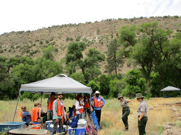 Field Work at Bandelier National Monument (Photographer: Peter Machado)