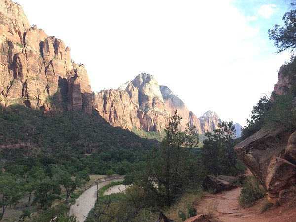 Post-internship visit to Zion Canyon, UT, on the way back to AZ