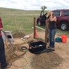 Seismometer deployment in NE Colorado with two of RESESS mentor Anne Sheehan's graduate students.