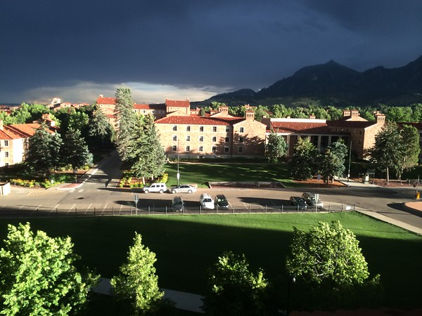 View from Enrique's office at CU Boulder just after a storm.