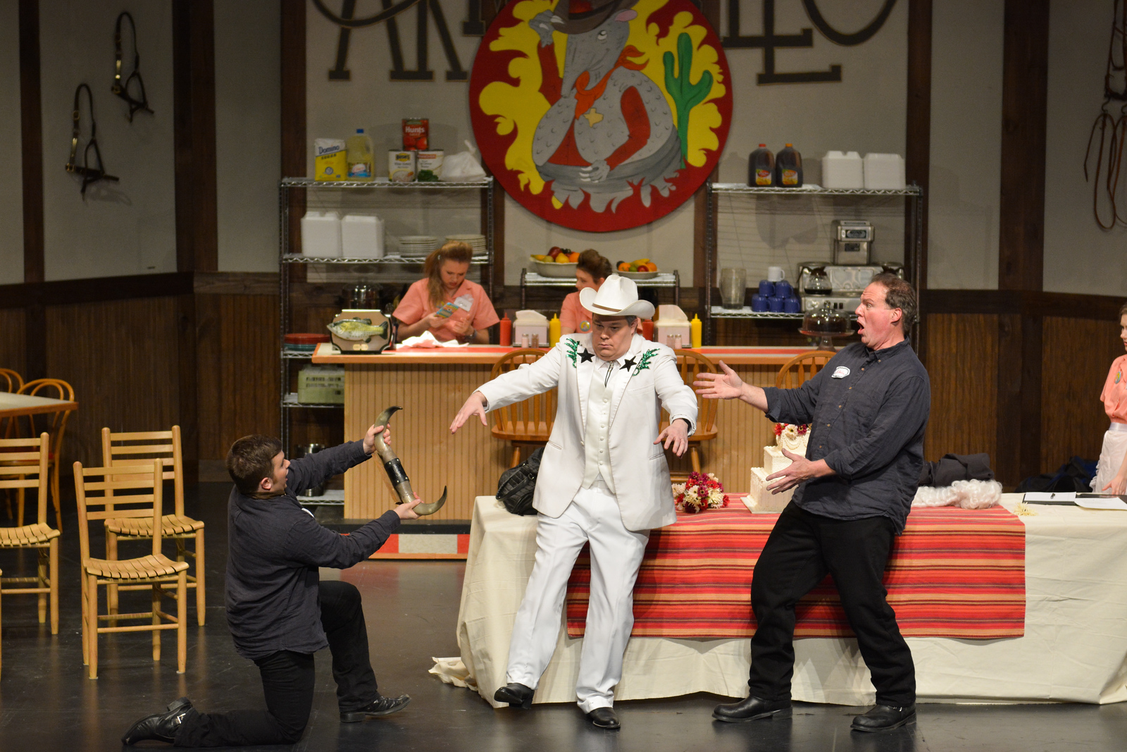 T-Frankie and Bill-Bubba playing doctor on Mr. Marlow (Chris Nelson)