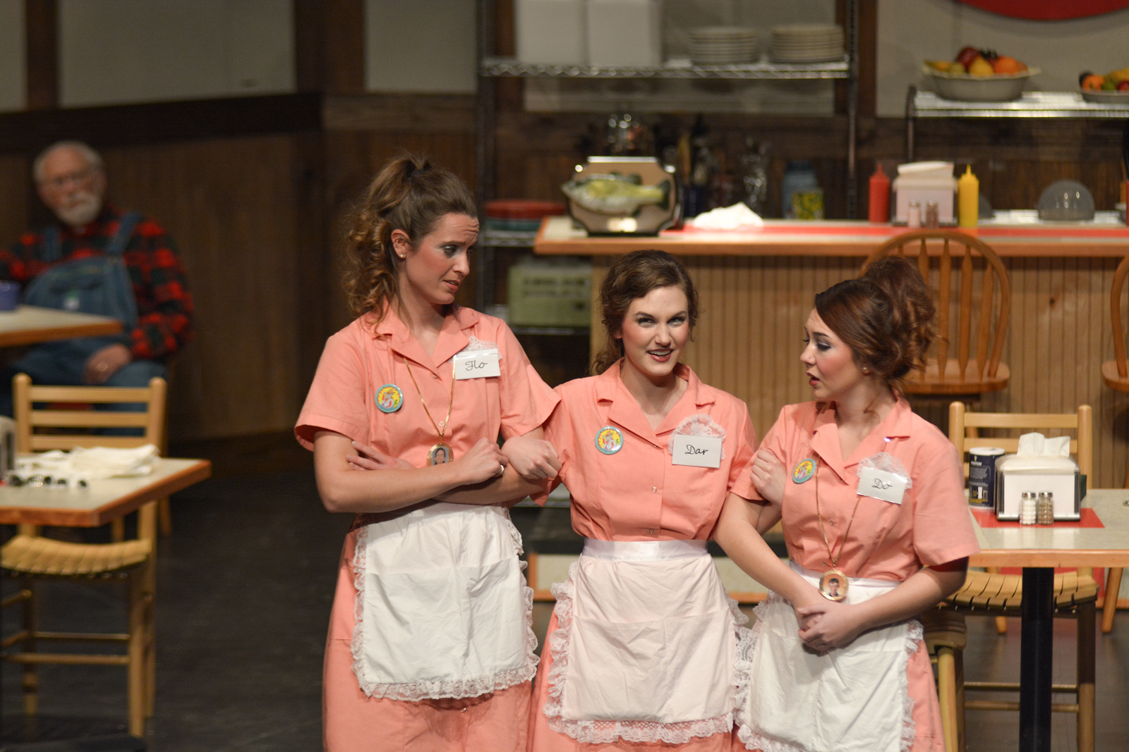 Darlena played by Katie Ujevich, Flodalucy played by Julia Turnbull, and Dorabeulla played by Julia DeSerio