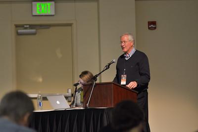 Jim Venimin, introducing a speaker.