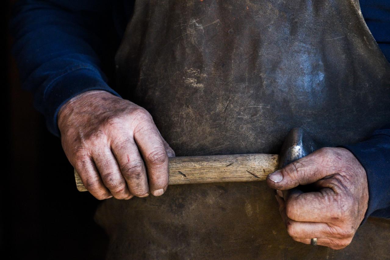 Will Frary, local blacksmith.