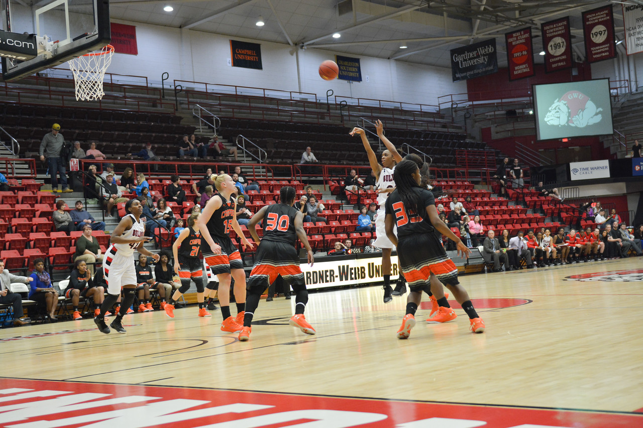 Candace Brown shooting the ball