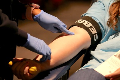 Donors were given objects to squeeze during the process to help ease the pain and circulate blood flow.