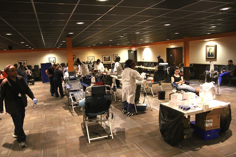 On Thursday, January 28th, students came out to Ritch Banquet Hall from 11-4 to donate blood at the blood drive hosted by the American Red Cross.