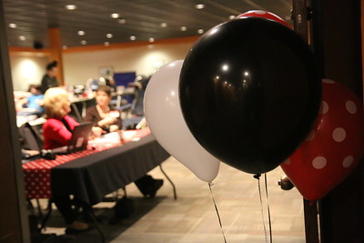 The entrance to Ritch Banquet Hall was framed with balloons and smiling faces to make the donors feel welcome and appreciated when entering.