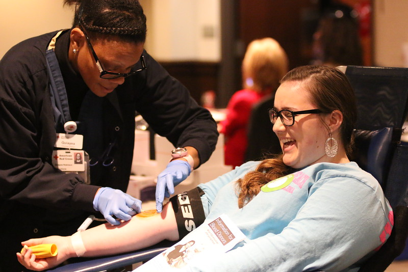 Although sometimes it was painful, students smiled their way through knowing they were helping save lives,