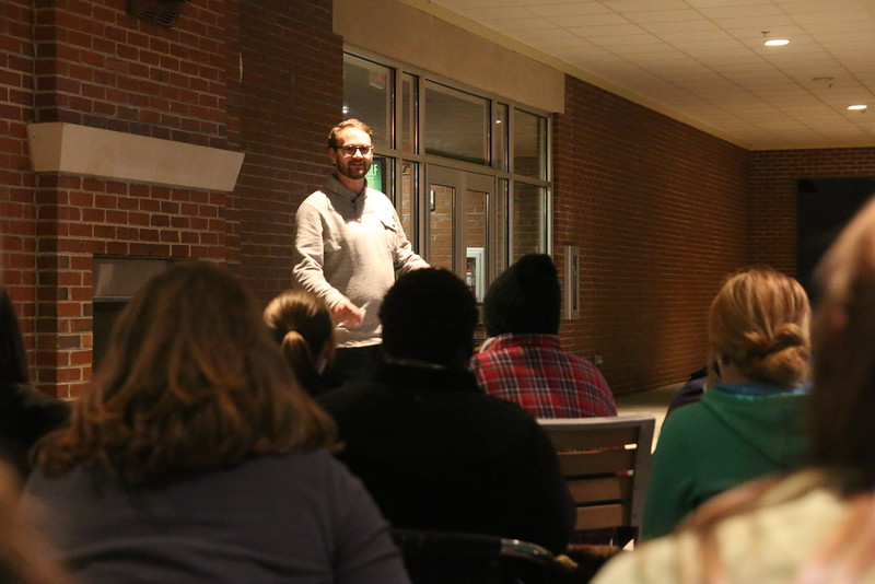 GWU senior, Daniel Napier, shared a message of encouragement to the students during the service.
