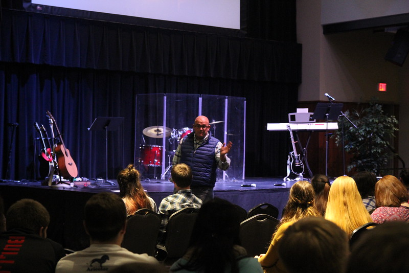 Brian Burgess, Celebration Week's guest speaker, shared about 2 Corinthians 12 on Tuesday night.
