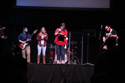 Emma Shappley gave the call to worship at Tuesday night's celebration week service.