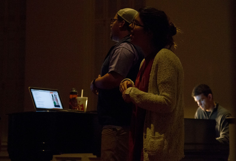 The Gathering band led students in a worship service Friday night in the Dover Chapel to finish out celebration week.
