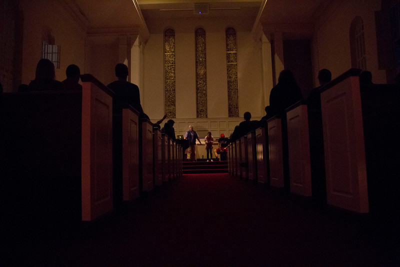 Students gathered in the Dover chapel to finish out celebration week with a worship service.
