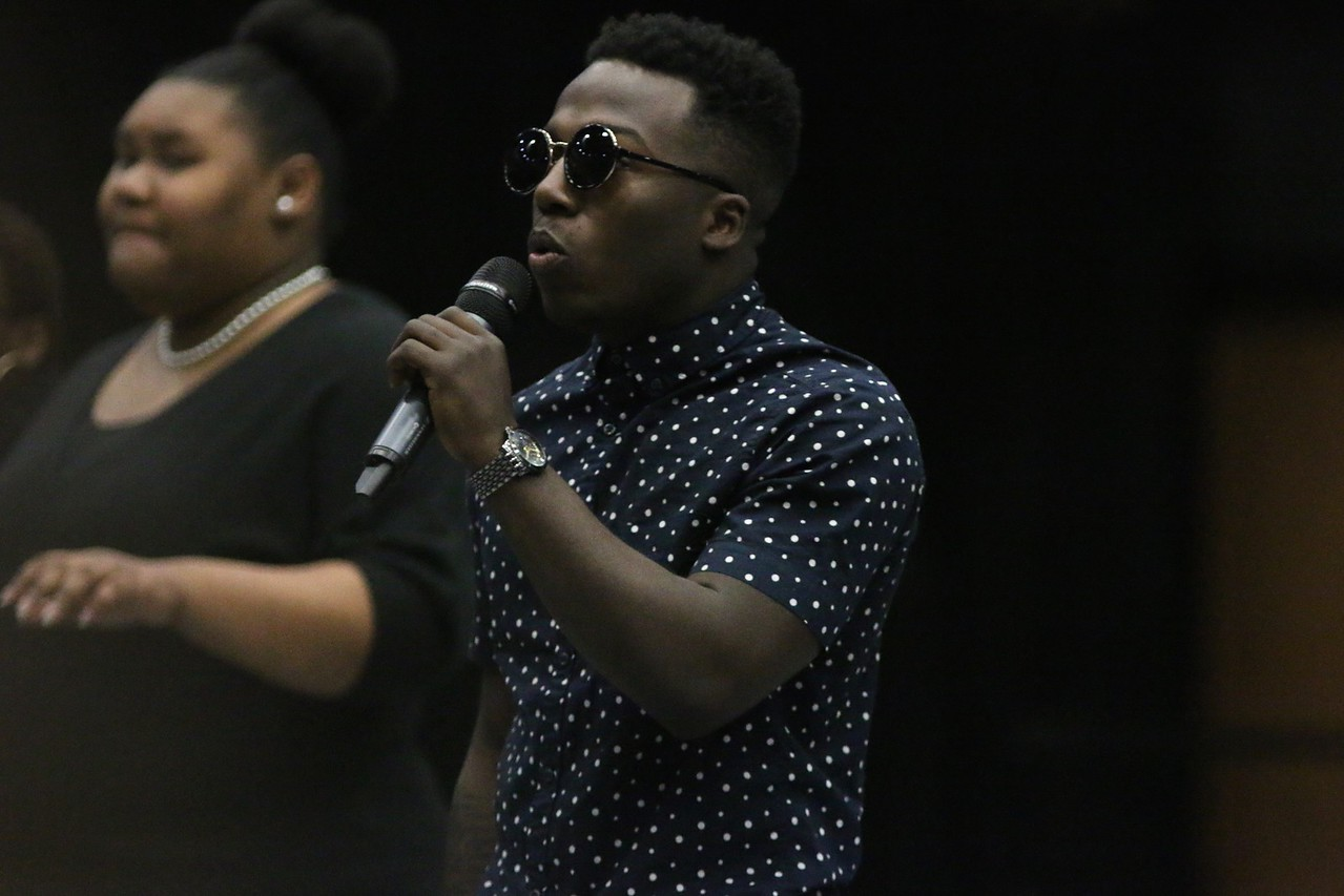 Davon, GWU Sophomore, rapped along with the Gardner-Webb gospel choir at Dimensions.