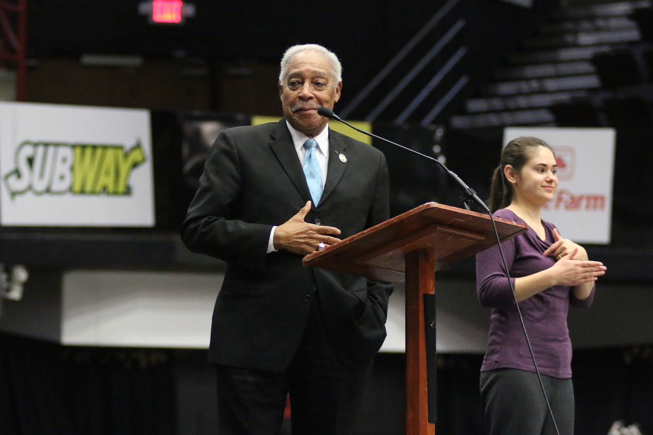 Dr. Albert Brinson, close friend of Dr. Martin Luther King Jr., came and spoke to the students of Gardner-Webb on Tuesday, January 19th during their weekly Dimensions.