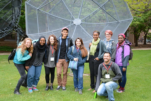 2016 RESESS intern group photo. NCAR Foothills Laboratory, Boulder, Colorado (Photo/Aisha Morris, UNAVCO)