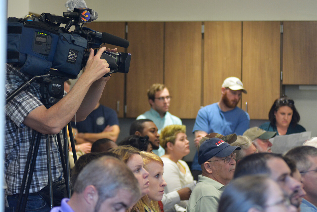 Residents were not the only ones interested in the meeting news crews came as well.