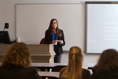 Gardner-Webb University's Life Of The Scholar (LOTS) participants present their thesis projects; Spring 2016. Taylor Thomspon, Vasovagal Syncope in a Female Collegiate Soccer Athlete