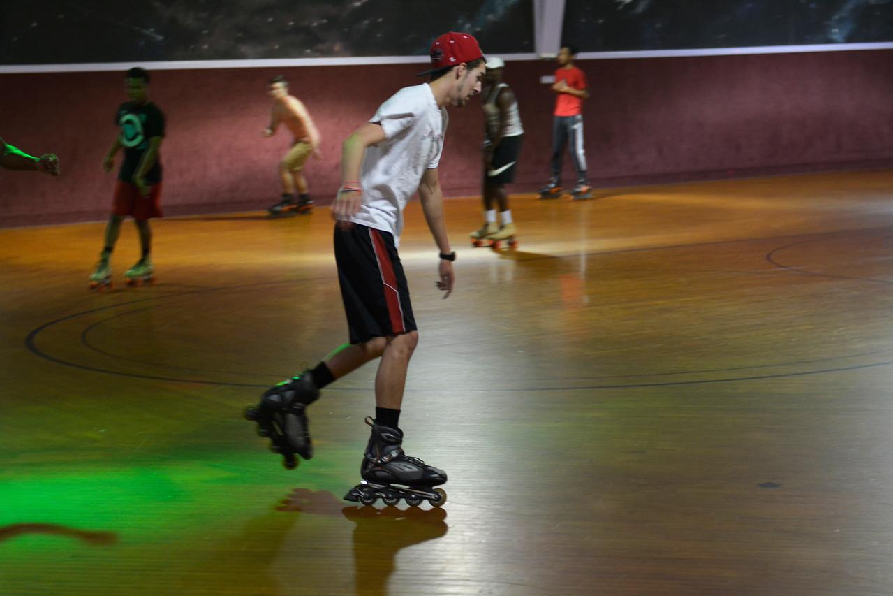 Students had fun showing off their skating skills.
