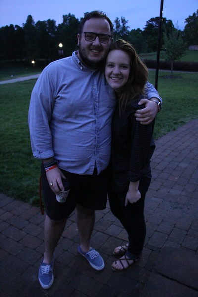 Jacob Kirby and Anna Kullmar pose for a picture