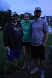 Jonathan Goldenburg, Daniel Napier, and Taylor Schwartz pose for a picture