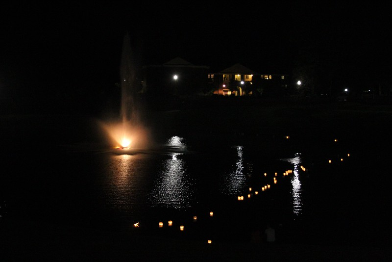 The lanterns floated across lake Hollifield.