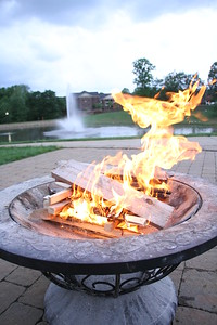 A fire was available for people to make smores.