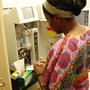 RESESS intern Crystal Burgess samples and processes well water during her 2016 internship with Laura Lautz at Syracuse University. (Photo/Aisha Morris, UNAVCO)