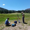2016 RESESS intern Enrique Chon takes gravity surveys during his time at the SAGE field experience. (Photo/ Matt Folsom, SAGE)
