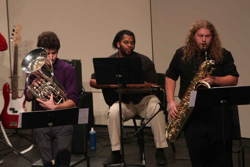 Matthew Pennell (Euphonium), (Cameron Walters (Alto and Baritone Sax), Michael Kneely (Guitar)