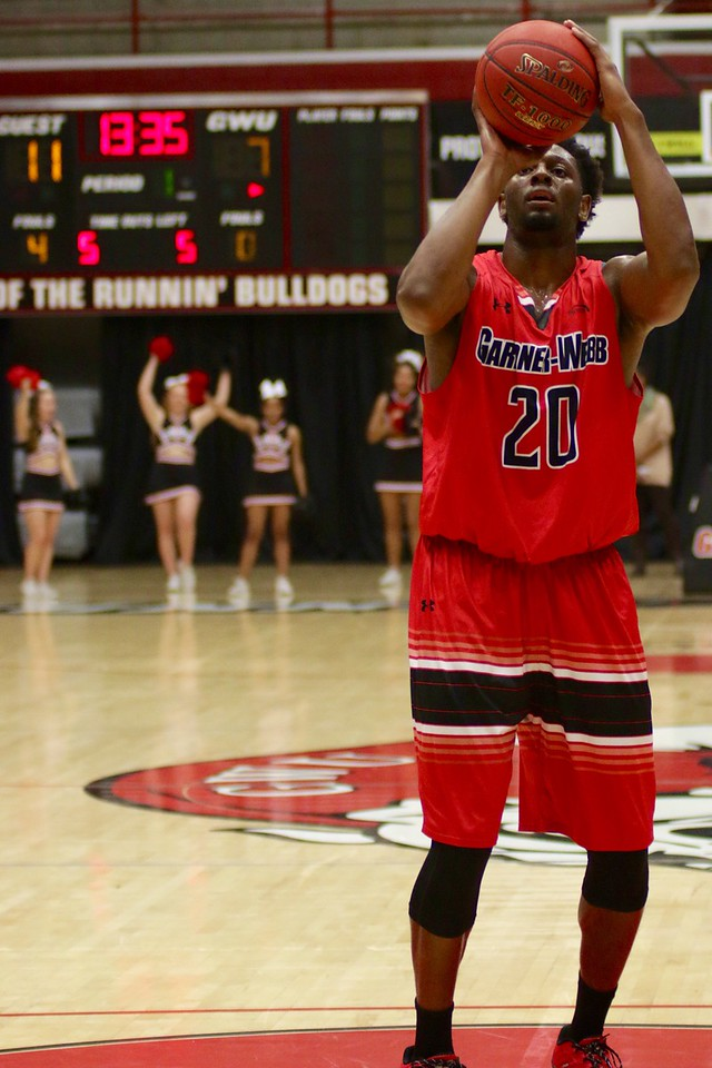 On Thursday night, November 3rd, students came out to support their Runnin' Bulldogs Basketball team in their first event of the year: The Red and Black Scrimmage Game. The Gardner-Webb Men's Basketball team was split into two teams (Red & Black) and battled for the win and a fun evening of basketball and community for the campus.