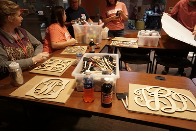 Monograms prepped and ready to be painted!