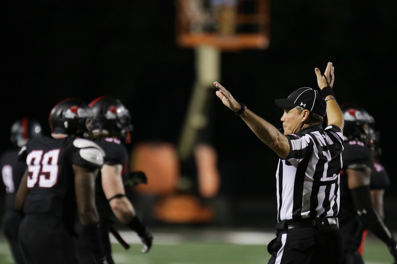The Ref makes a call.
