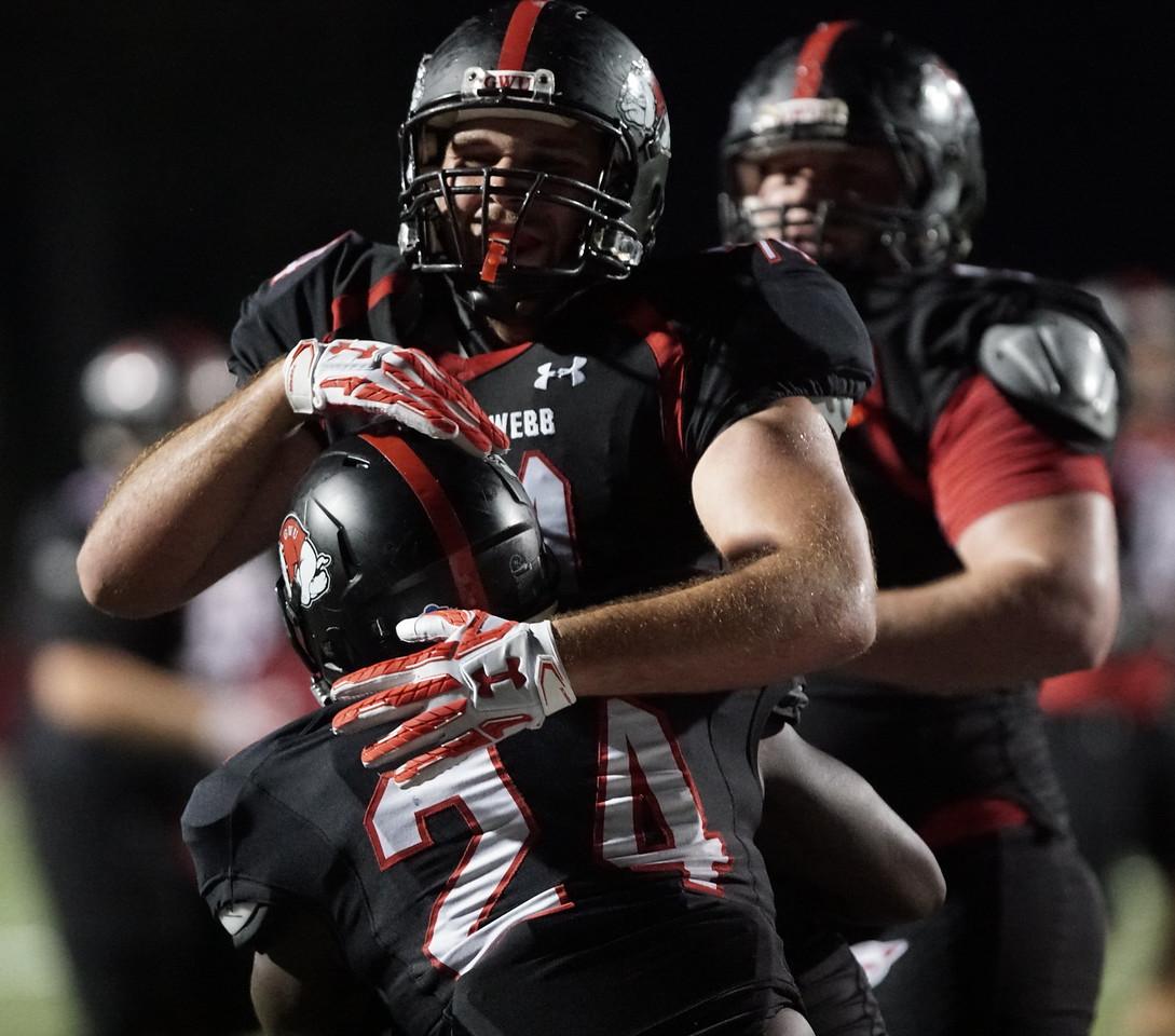 Bulldogs celebrate a touchdown. -Taken by Ashley Falls