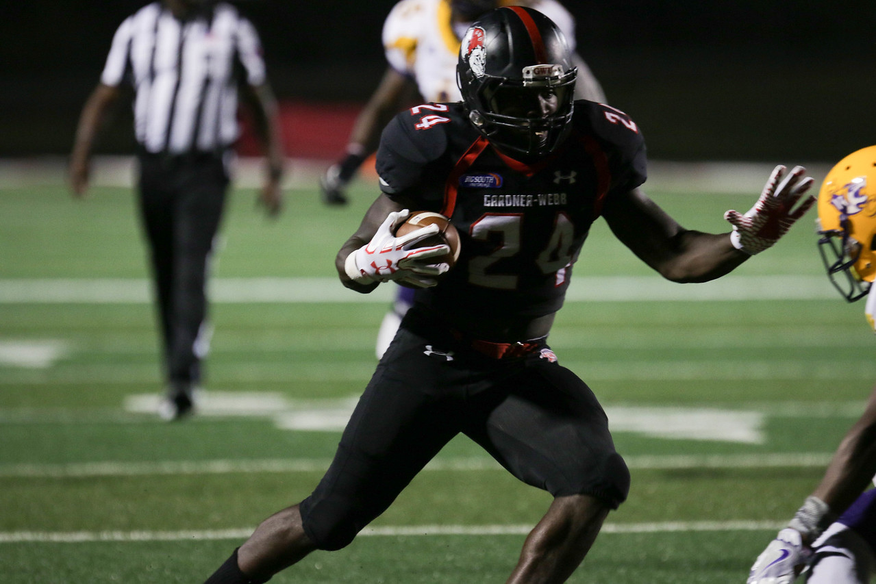 #24, Khalil Lewis, defends the ball.