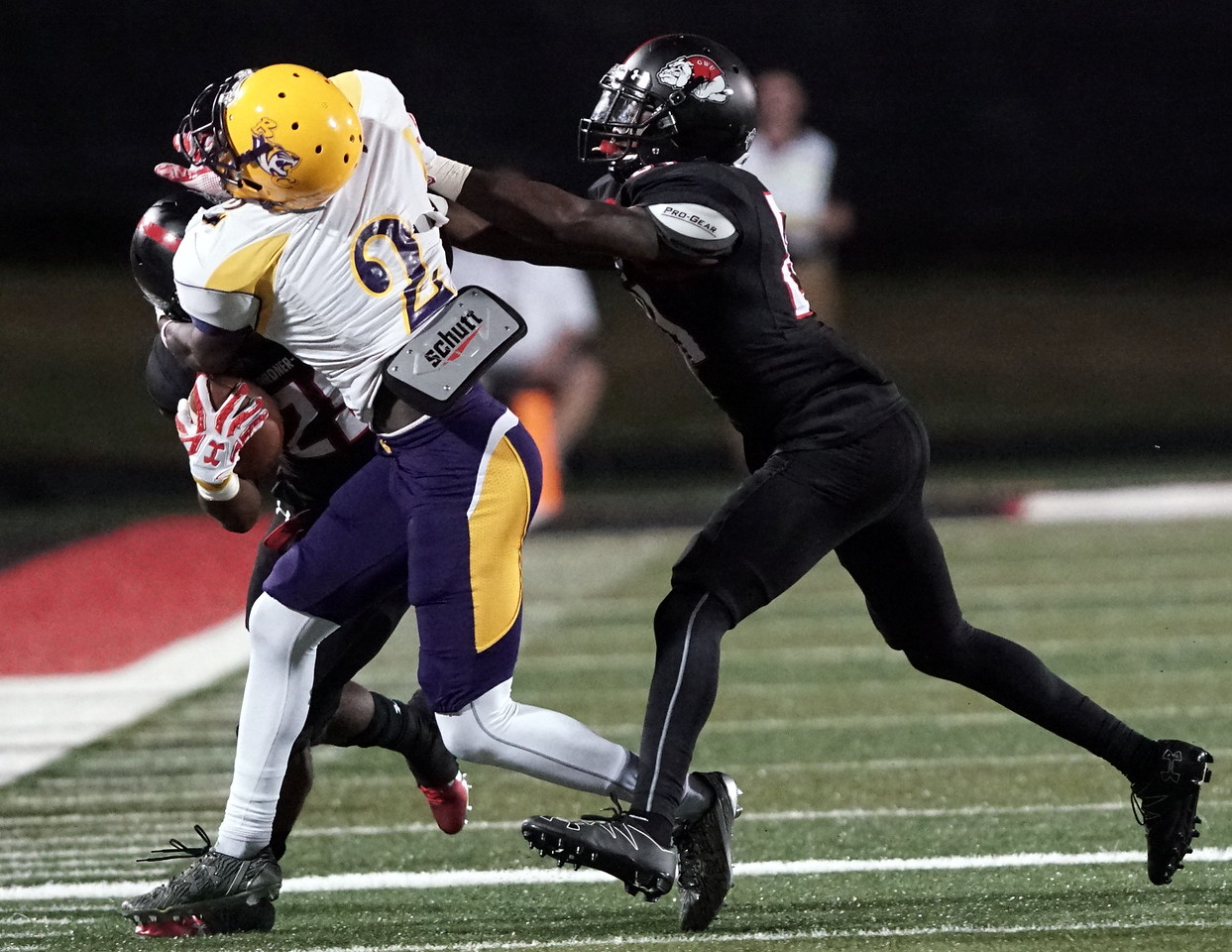 Robert McKoy is tackled by Benedict. -Taken by Ashley Falls
