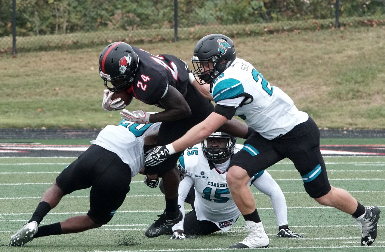 Khalil Lewis brought down by Costal Carolina.