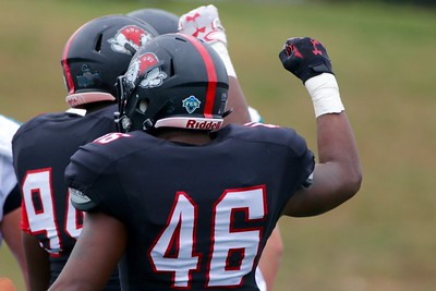 Gardner-Webb celebrates after making a good play.