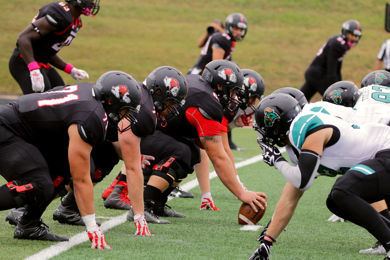 Gardner-Webb and Coastal Carolina face head to head before a play.