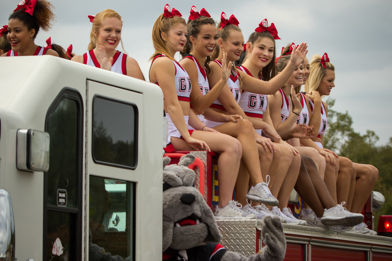 Homecoming parade and tailgate.
