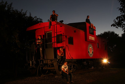 Lightpainting the Lattimore Caboose