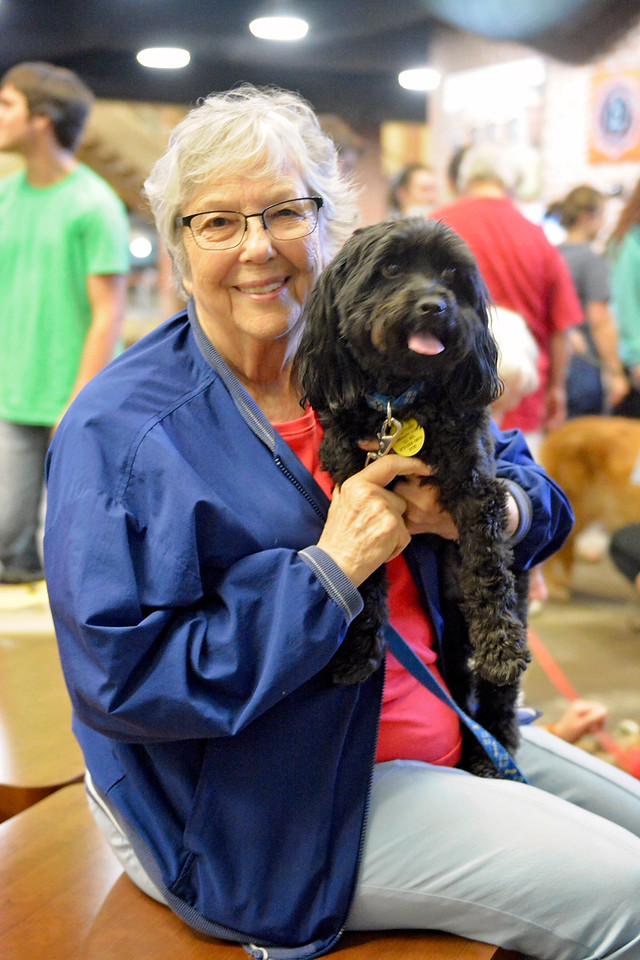 Dr. Helen Tinchenor and her dog Toby