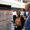2016 RESESS and Geo-Launchpad interns present their summer work during a joint Front Range Intern Poster Session held at UCAR Center Green on July 28, 2016. Boulder, Colorado. (Photo/Aisha Morris, UNAVCO)