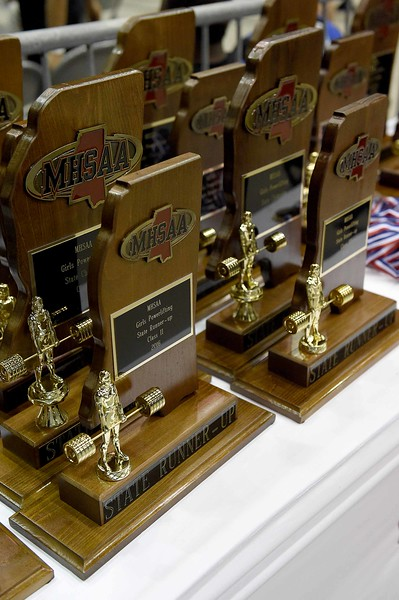 on Saturday, April 16, 2016, at the MHSAA State Powerlifting Championships in the MIssissippi Coliseum in Jackson, Miss.