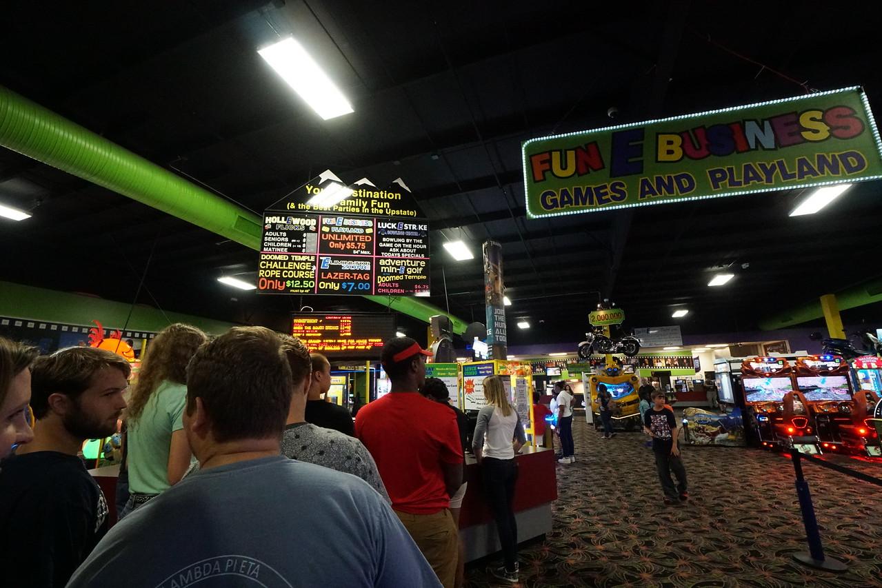 The line to get into the Big E.